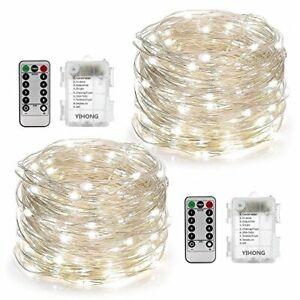 Conjunto-de-2-Luces-de-Hadas-alimentado-por-bateria-con-Control-Remoto-Temporizador-8-modos-Twinkle