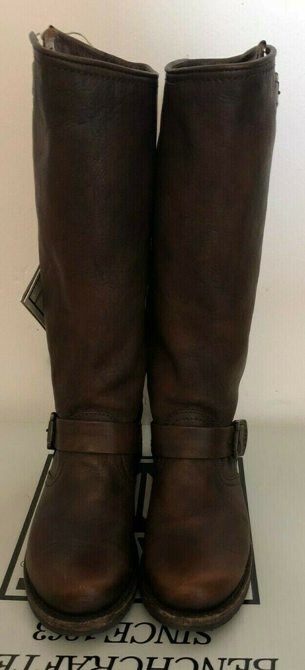 Pre owned Frye Veronica Slouch-Calf Extended Dark Brown Leather Boots Sz 6.5M