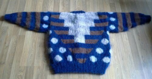 Cardigan mohair lavorato in a mano nYU7qwp