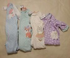 Carter/'s Toddle Girl/'s Fleece Footed Blanket Sleeper NWT Pink Fox  2T  or   3T