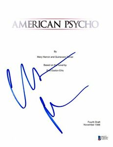 CHRISTIAN BALE SIGNED 'AMERICAN PSYCHO' FULL SCRIPT SCREENPLAY AUTHENTIC BECKETT