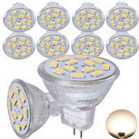 10x 3W MR11 GU4 LED Glühbirne Strahler Lampe Warmweiß Spot Leuchtmittel DC12V