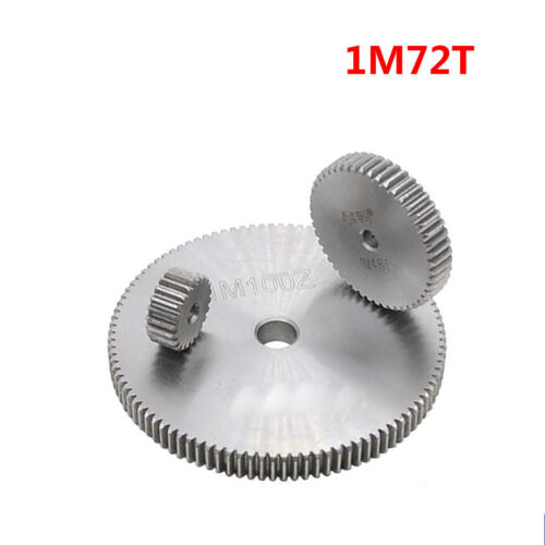 1 Mod 72T Spur Gear Steel Motor Pinion Gear Thickness 10mm Outer Dia 74mm x 1Pcs