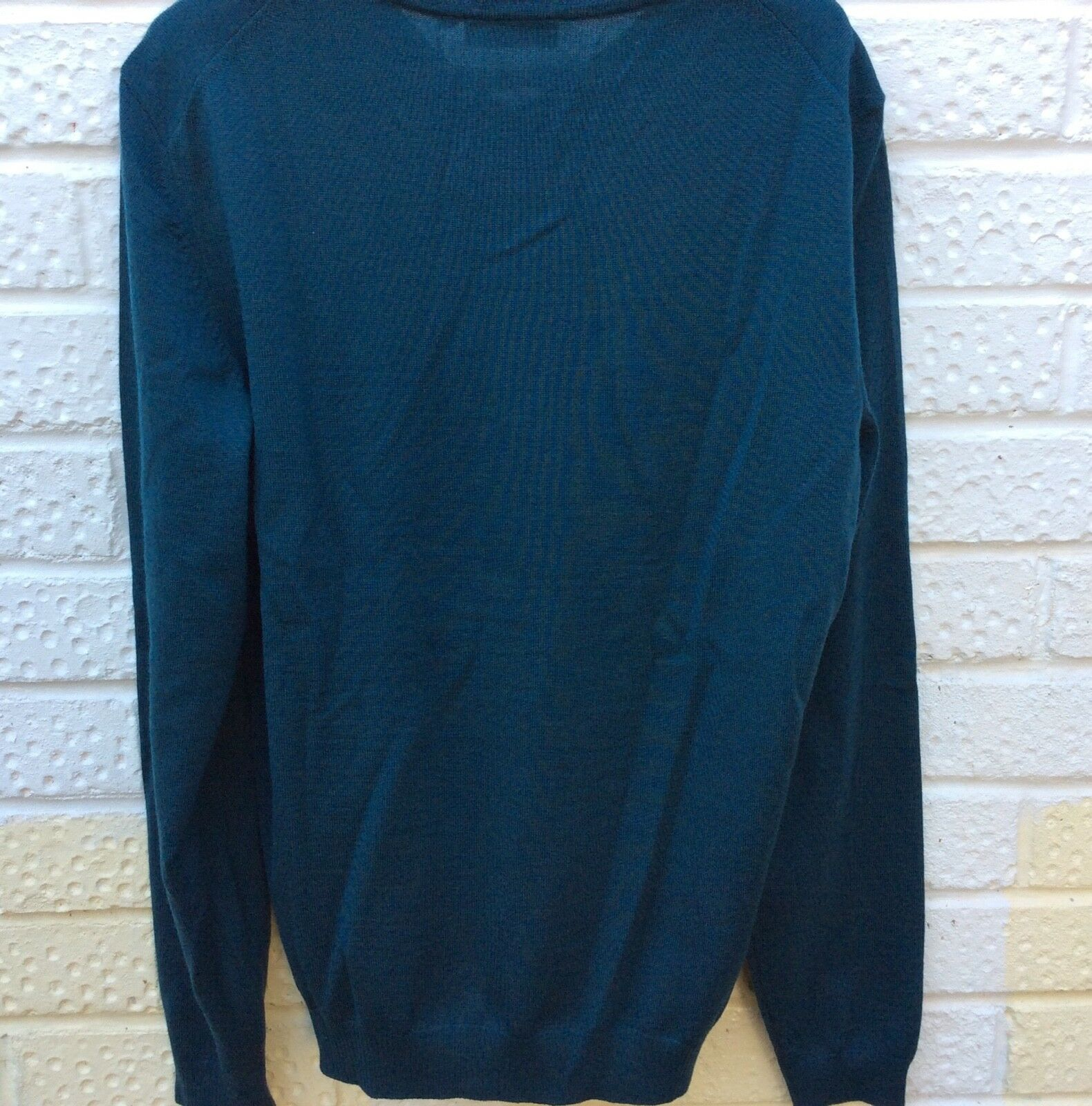 8ef36d106 ... HUGO BOSS Woolly Mens Jumper Small Small Small Teal bluee NEW c47a62