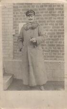 18315/ Originalfoto 9x13, Offizier im Pelzmantel, ca. 1916