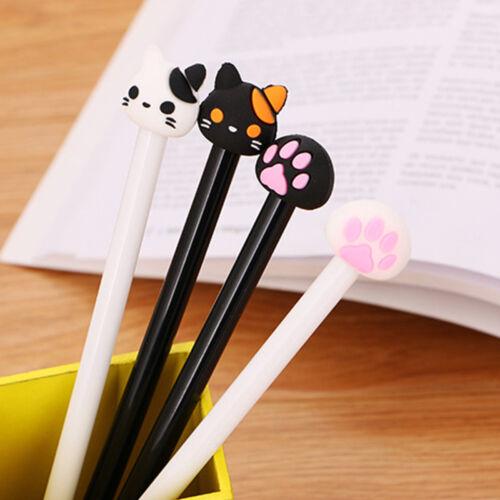 4 Pcs//Lot Cute Cat fan Gel Ink Netural Pen Office Supplies Children/'s School