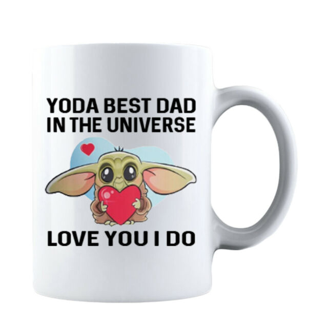Funny Fathers Day Yoda Best Dad In The Unıverse Gift for DAD Coffee Mug Daddy