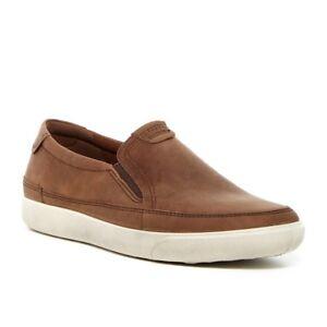 Homme-Ecco-Gary-Enfiler-Fashion-Sneaker-Mocassin-nubuck-cuir-Cocoa-Brown
