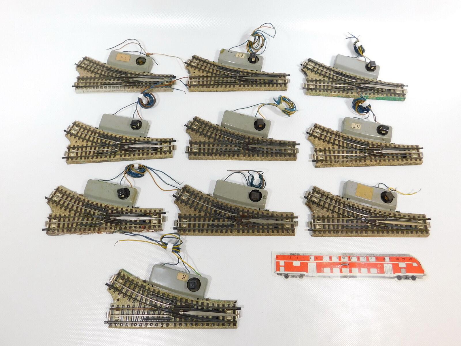 CH342 10x marklin H0 00 AC Morbido M Pista Destra per 3600800 Non Testato