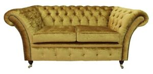 Chesterfield-Design-Luxury-Pads-Sofa-Couch-Seat-Set-Leather-Textile-New-232