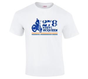 New Steve McQueen Biker Motorcycle Cool Classic Retro Print T-shirt Sizes S-5XL