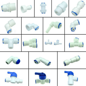 Water-Filters-RO-System-Parts-Valve-Elbow-Tee-Y-Male-Female-Fitting