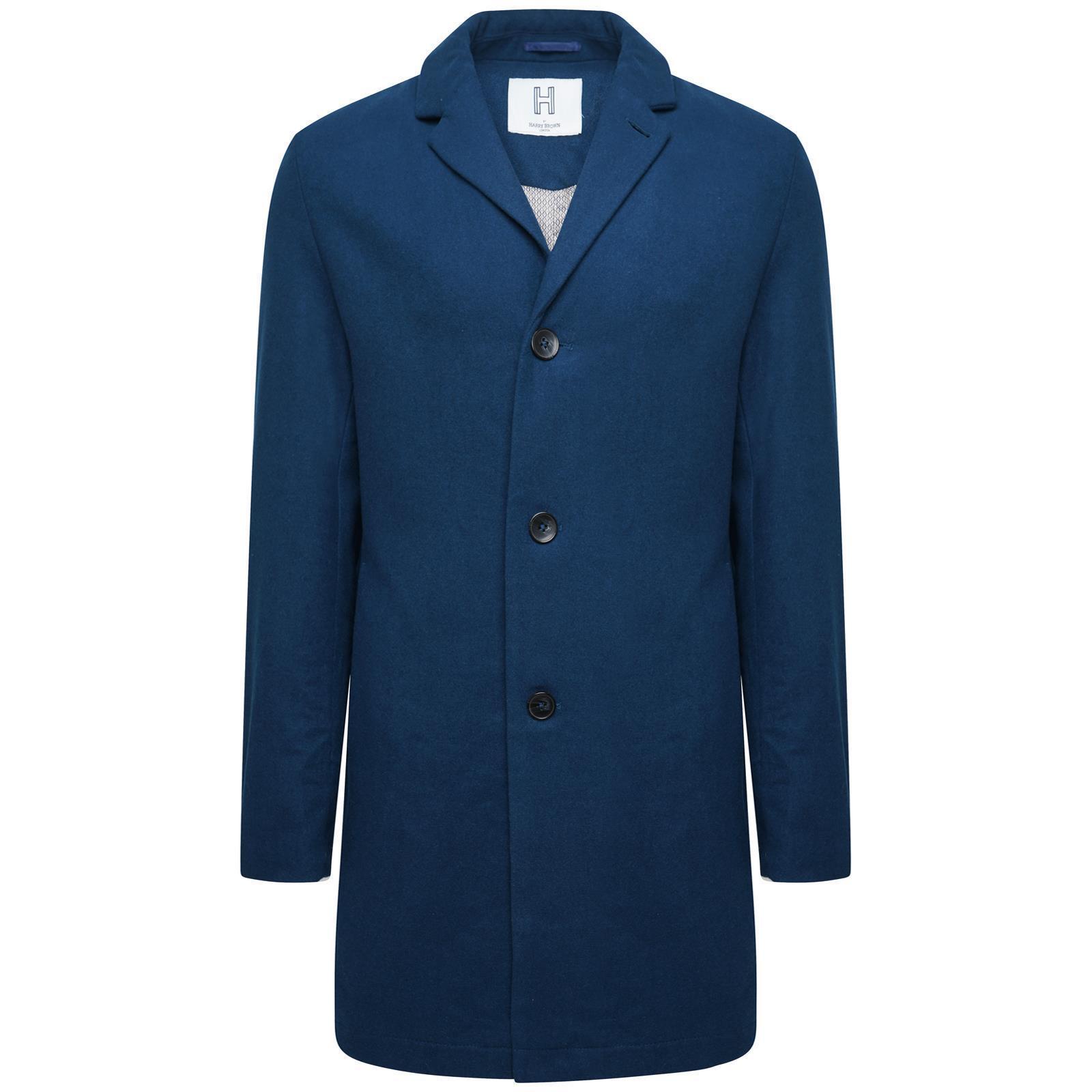Harry Brown Wool Overcoat in Teal