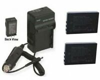 2 Klic-5001 Batteries + Charger For Kodak Dx-6490 Dx-7590 P712 P850 P880 Z7590