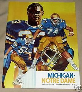 1982-Notre-Dame-vs-Michigan-Football-Program