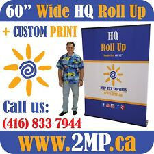 Luxury Hq 60 Trade Show Retractable Roll Up Banner Stand Pop Up Display Print
