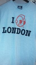 Used KIDROBOT Grey/Red I LOVE LONDON Robot Men's T-Shirt SZ M HTF 2012