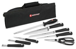 wusthof grand prix ii 9pc chef 39 s knife roll knife set ebay. Black Bedroom Furniture Sets. Home Design Ideas