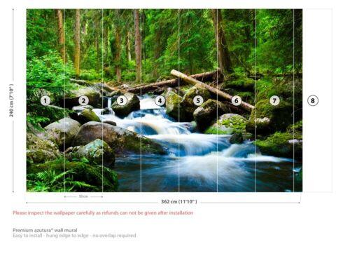 Waterfall River Landscape Wall Mural Wallpaper WS-42297