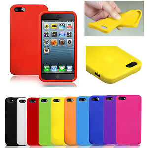 PLAIN-SUPER-SOFT-SILICONE-RUBBER-GEL-CASE-COVER-SKIN-PROTECTOR-FOR-IPHONE-5-5S
