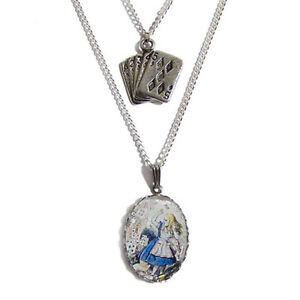 ALICE-in-WONDERLAND-playing-cards-necklace-silver-charm-cheshire-cat-tea-cup