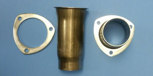 """3.5/"""" HEADER TO 2.5/"""" ALUMINIZED 3 BOLT GASKET STYLE HEADER COLLECTOR REDUCER USA"""