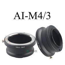 AI-M4/3 Adapter Ring for Nikon F AI AIS Lens To Micro 4/3 Olympus Panasonic M43