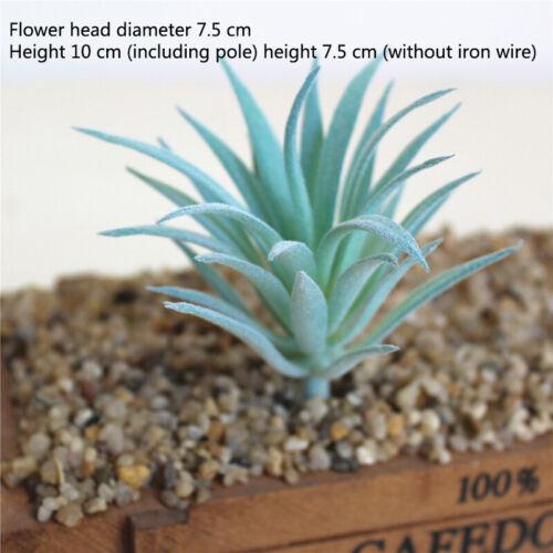 Home DIY Decoration Faux Cactus Aloe Artificial Garden Blue Succulent Plants 1PC