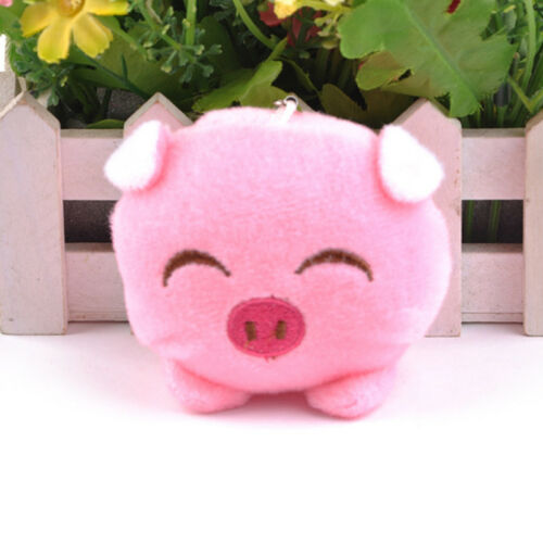 Mini Plush Pig Doll Pendant Key Ring Animal Charms Pompom Keyring Handbag Deco4H Film- & TV-Spielzeug