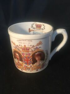 Antique-Coronation-King-George-V-Queen-Mary-1911-Late-Foley-Shelly-Cup-Mug