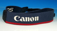 Canon EOS 130cm Blau / Rot Tragegurt Riemen Carrying Strap courroie - (203231)
