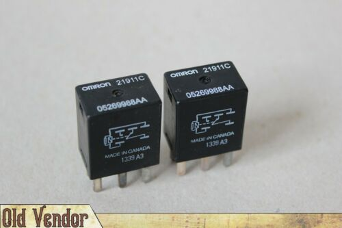 Omron 21911C /_TESTED RELAY/_ Chrysler Dodge Jeep 12V 5Pin # 05269988AA X2