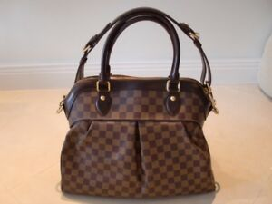 6b9169be2165 Image is loading AUTHENTIC-Louis-Vuitton-Damier-Ebene-Trevi-GM-Bag