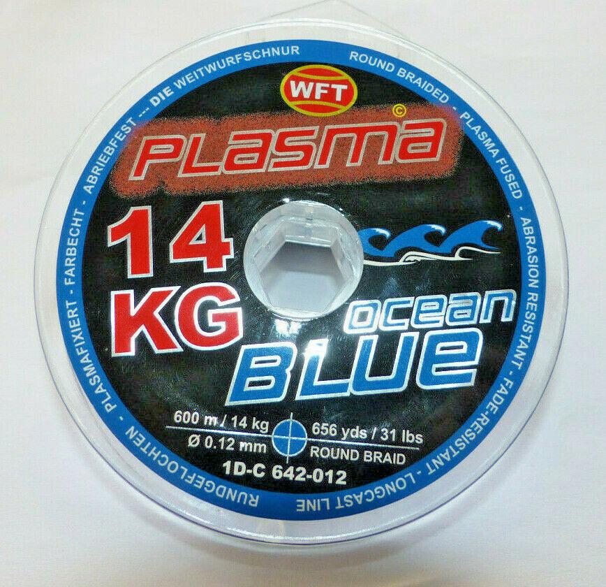 WFT PLASMA KG Blau 600m 600m 600m GEFLOCHTENE ANGELSCHNUR, wahlw. versch Stärken    m 7d8898