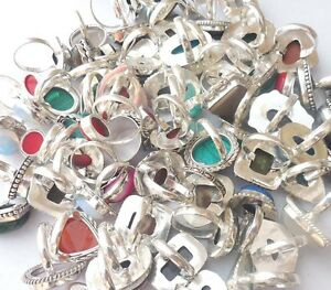 1000GRAMS-MODERN-JEWELRY-925-STERLING-SILVER-OVERLAY-RING-LOT