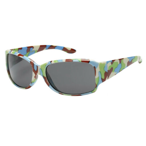 KIDS TODDLER BOYS GIRLS WRAP SPORT CAMOUFLAGE CLASSIC STYLE  SUNGLASSES SHADE