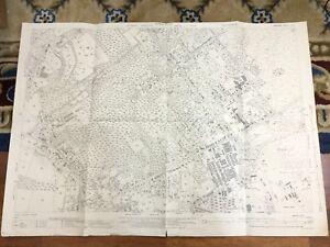 Antique Map Hampshire Fleet Aldershot Gally Hill Tweseldown 1940 Ebay
