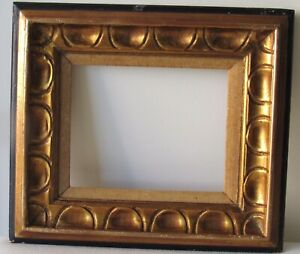 HAND-CARVED-ART-amp-CRAFTS-GILDED-FRAME-FOR-PAINTING-10-X-8-Inch