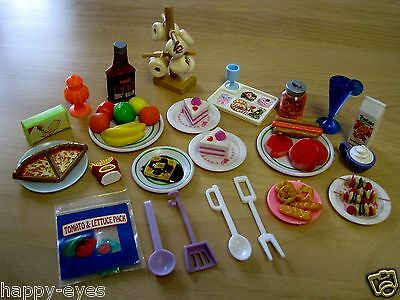 BARBIE *DISHES, FOOD, MINIATURES, ACCESSORIES LOT (no clothes/shoes) #1a