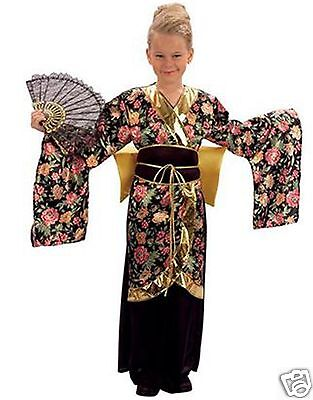 Girls Geisha Costume Girls Japanese Kimono Girls Chinese Fancy Dress 5-15 yrs