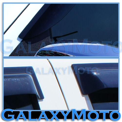 14-15 Chevy Silverado 1500 Double Cab Window Visor Smoke Shade Wind Deflectors
