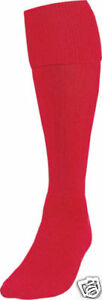 1-Pair-New-Football-Socks-RED-Childs-Kids-Youth-Size-3-6-Shoe-Hockey-Rugby-Kit