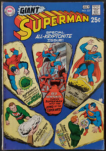 Giant-Superman-227-FN-6-5-DC-Comics-1970-Tear-on-Lower-Spine-See-Pics