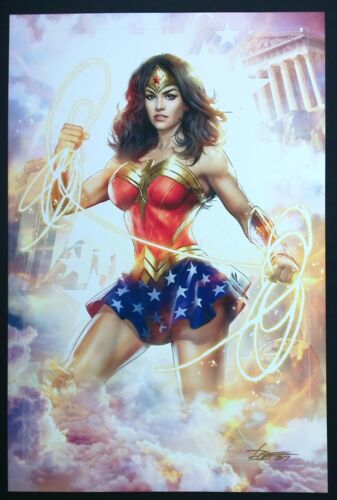 "Dave Wilkins Wonder Woman Art Print 2017 Wondercon   18/""x24/"""