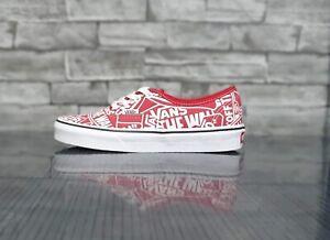 Vans Authentic OTW Repeat Red UK 3.5   eBay