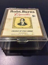 Vintage Robt. Robert Burns Cigarillos 5 Cents Cigar Box Case Advertisement