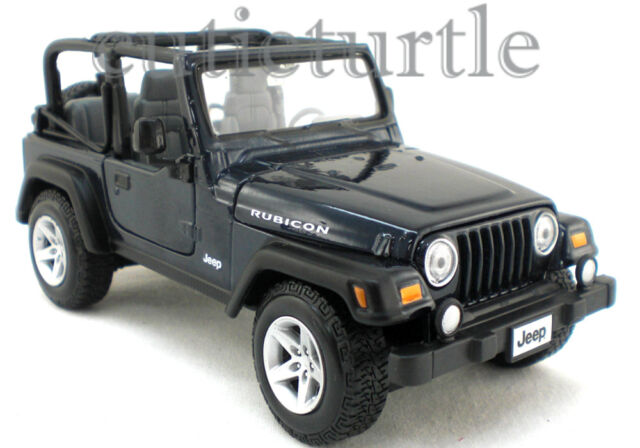 Jeep Wrangler Rubicon Blue 1 27 Diecast Model Car By Maisto 31245 Ebay