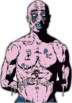 laptop phone 2pac Tupac Shakur Makaveli Outlaw Thug Life Vinyl Sticker Decal