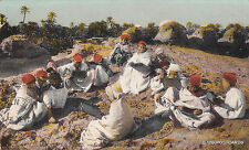 * TUNISIA - Scenes et Types: Ecole Arabe en plein air 1916 Sfax