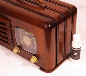 QAR-GLAYZE-Wood-amp-Bakelite-Polish-High-Luster-Shine-For-Your-Antique-Radio-2oz
